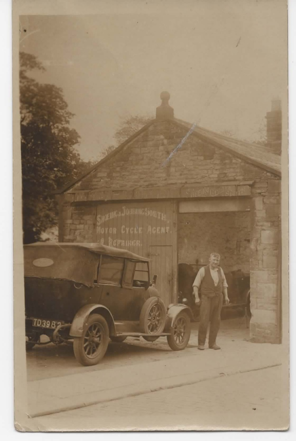 Bill Whitaker outside his forge at Barrowford