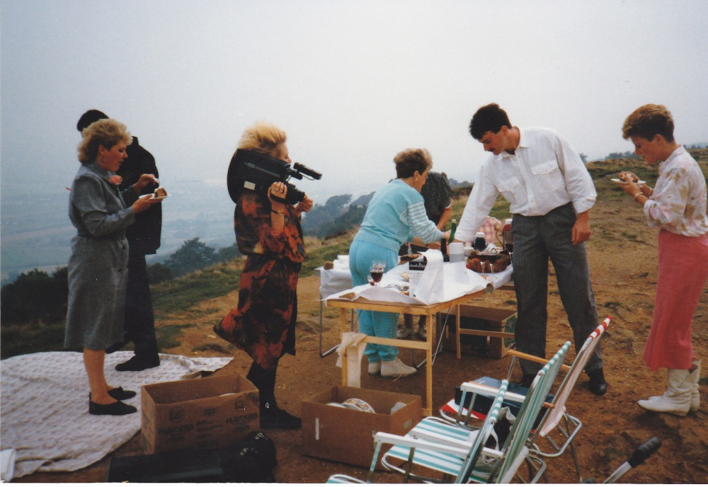 Our wedding on the Chevin, Otley 8th September 1988