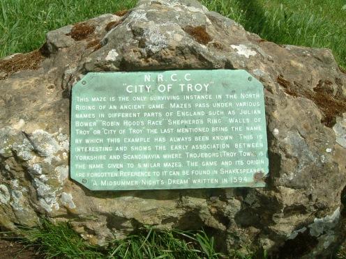 Troy maze, Brandsby