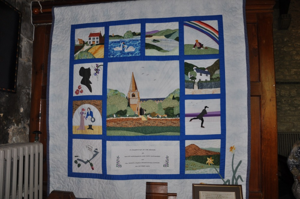 Quilt commemorating Wordsworth's marriage to Mary Hutchinson of Brompton