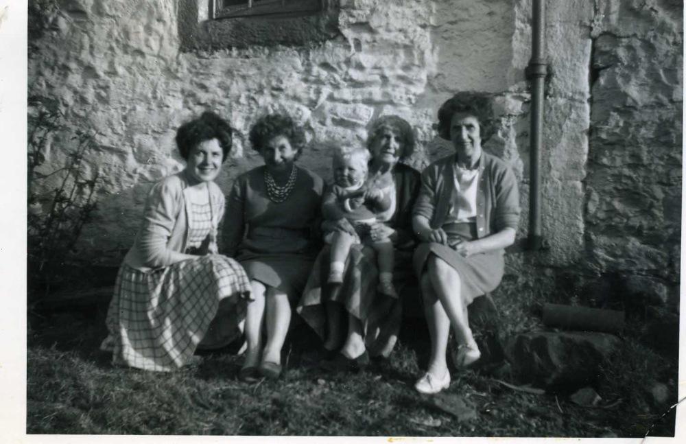 Me, Auntie Margaret, Melanie, Granny Clark, Mum 1961
