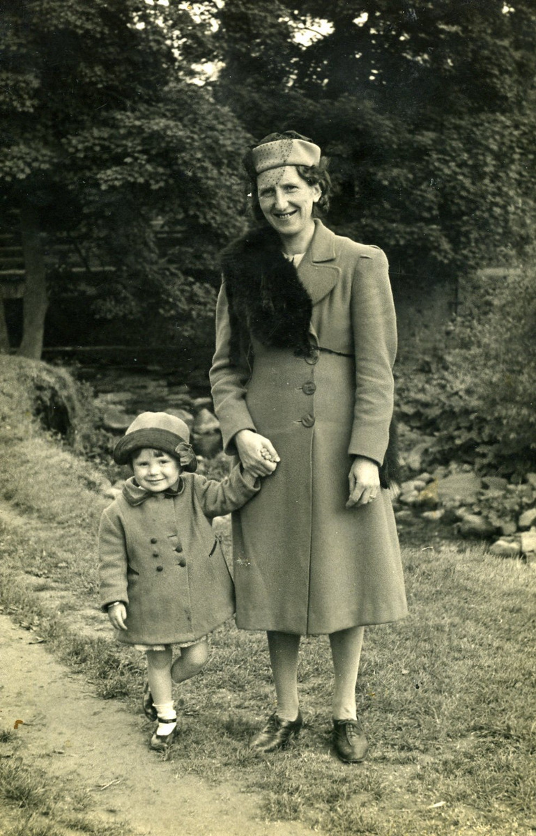 Mum and Me around 1940 (at Water Meetings?)