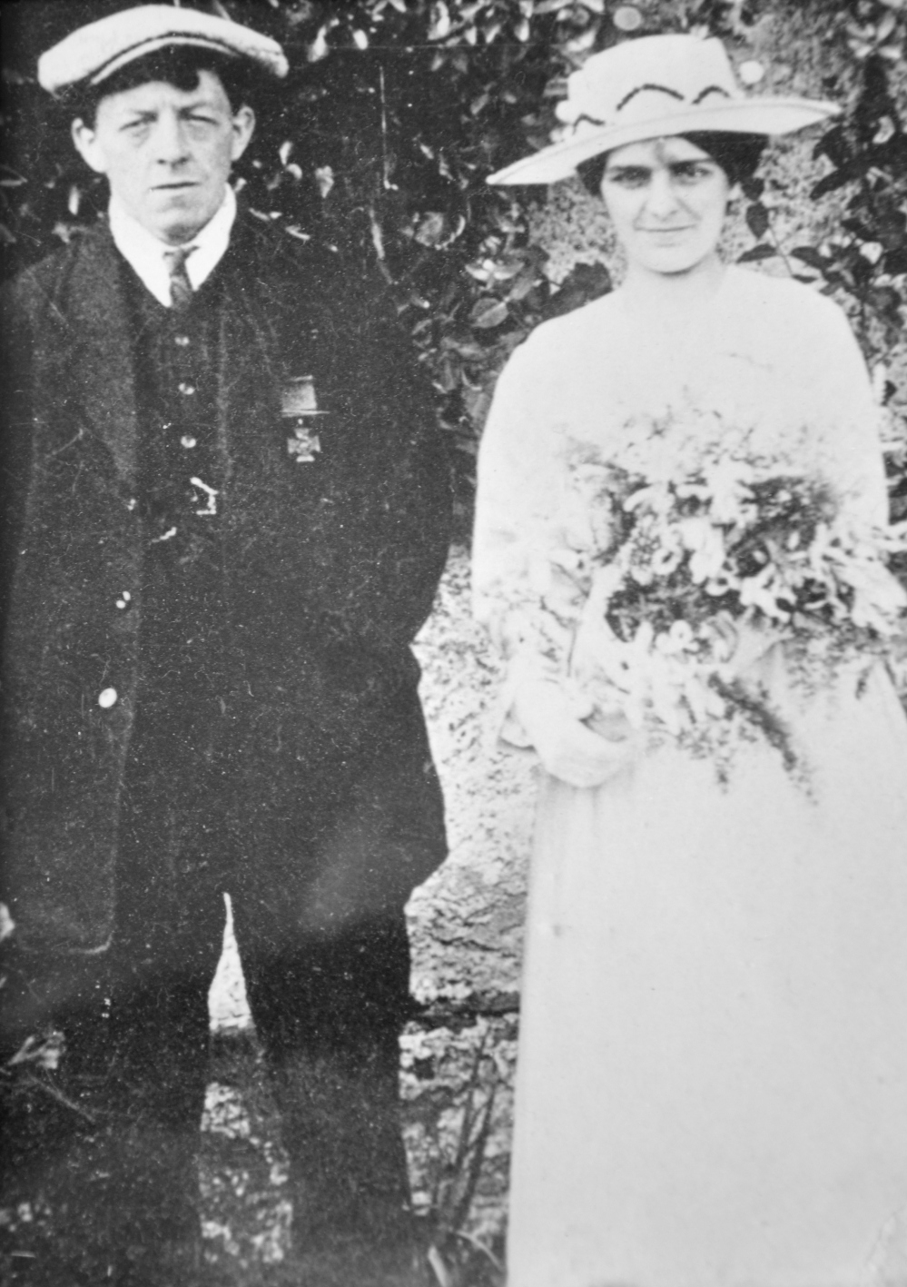 Jimmy and Lizzie on their wedding day